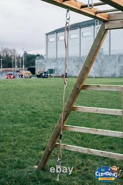 6ft 8ft 10ft 12ft 14ft Wooden Monkey Bars Gym Bars, Play Equipment, Garden Fun