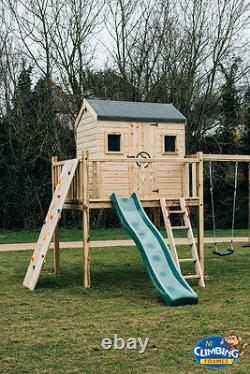 8ft Wooden Rock wall FOR Climbing Frame, tree house, play den, Swing set, wendy