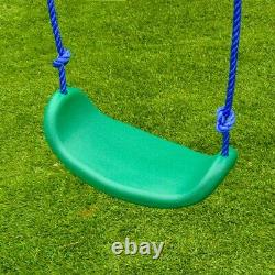 ALEKO Outdoor Sturdy Child Swing Set with 2 Swings and 1 Glider Blue/Green