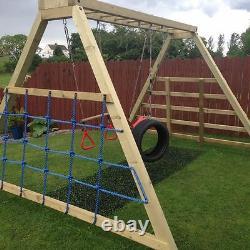 ARIZONA Monkey Bar Swing Set Jungle Gym, Ladder, Cargo Net, Outdoor climbing
