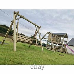 Adult Swing Set Heavy Duty Wooden Outdoor Garden Summer Seat Albin