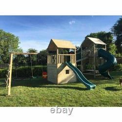 CHICAGO, Children outdoor fun playhouse, climbing frame, tube slide, monkey Bars