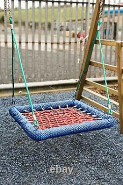 COMMERCIAL Kids Basket Crows Nest swing Seat Set! 100cm Climbing Frame Tree, BLUE