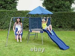 Chad Valley Climbing Frame with Toddler Swing and Kids Slide