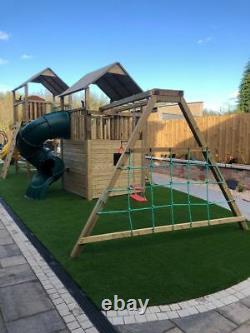 Children's Climbing Frame Monkey Bars, Swings, Slides, Kids Slide (GLENSHANE)