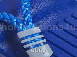 Childrens Blue Plastic Swing Seat With Rope Garden Outdoor Climbing Frame Tree
