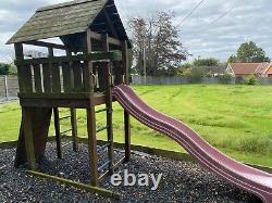 Childs kids garden climbing frame slide swings