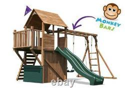 Climbing Frame Childrens Outdoor Play Tower Monkey Bar Swing Set BalconyFort