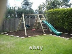 Climbing Frame Mini Play Centre Wooden Swing Set Slide Pressure Treated 4 inch
