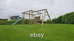 Climbing Frame Monkey Bars, Outdoor Toys, Garden Games, Swings (WARRIOR)