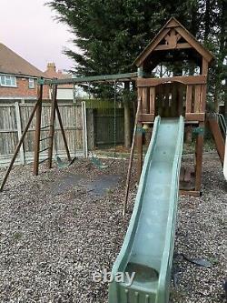Climbing Frame Swings, Garden Games, Slide, Tree House Backyard Adventures