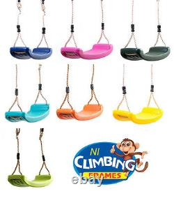 Climbing frame Kit, slide, swings, tyre, rocks, swing hooks, fireman's pole
