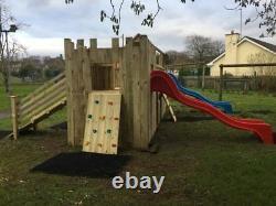 Commercial Climbing Frame Slide, Outdoor Toys, Outdoor Games (THE CASTLE)