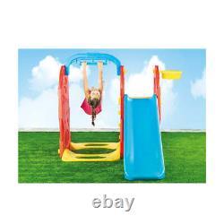 Dolu 4-in-1 Children Outdoor Garden Swing and Slide Playground Frame (H124)