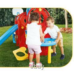 Dolu 7-in-1 Children Outdoor Garden Swing Slide Sand & Water Playground Frame
