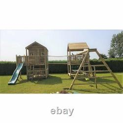 Double Climbing Frame Playhouse, Monkey Bars, Swings, Swing Set (THE GLENS)