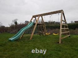 EVERGLADES Jungle Gym, Monkey Bars, Cargo net, Rock Wall, Swings, Steps, Slide