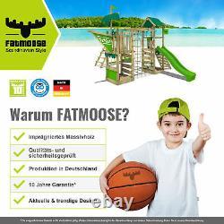 FATMOOSE TikaTaka Town XXL with SuperSwing Climbing Frame sandpit slide swing