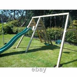 FRANCISCO Climbing Frame, Wave Slide, Swings, Outdoor fun, Garden, Children
