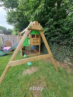 Fatmoose Outdoor Kids climbing frame, Swings, Playhouse, Sandpit, Slide