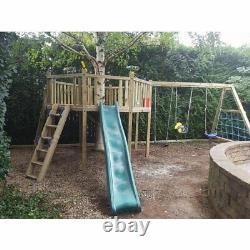 GIANT'S OCTAGON Bespoke, Climbing Frame, Monkey Bars, Slide, Rock Wall, Outdoor
