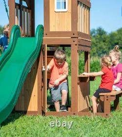 Garden Play Centre Toddler Swing Set Outdoor Wooden Playhouse Large Tree House