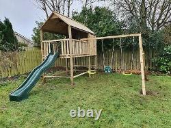 HANGOUT- Treated Timber, Tower, Swings, Steps, Enclosed Den, Garden, Climbing