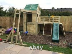 Heavy Duty Children's Climbing Frame 1 Tower Delux NO Self Assembly required