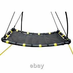JumpKing Backyard Outdoor Metal 360 Degree UFO Swing & Stand for 1 or More Kids
