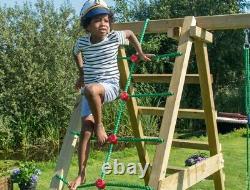 Jungle Gym Explorer 2 Climb Wooden Climbing Frame Swings And Slide