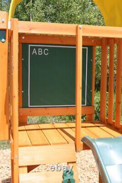 Kidkraft Ainsley Wooden Swing Set Kids Wooden Play House Swing Slide Set