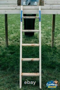 Kids Climbing Frame Monkey Bars, Slides, Swings, Outdoor Toys (RED HILLS)