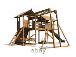 Kids Climbing Frame Swing Set Slide Climbing Wall Monkey Bar MegaFort Mountain