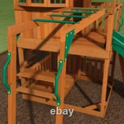 Kids Garden Playhouse Outdoor Children Slide Large Swing Set Wooden Tree House