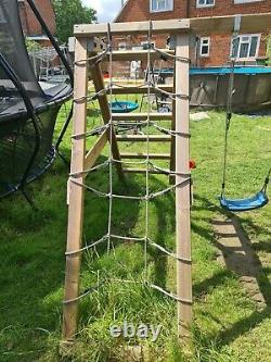Kids swings play apparatus with slide 2 swings and pirate play with sand pit