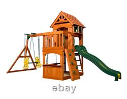 Large Garden Playcentre Wooden Children Playhouse Outdoor Kids Swing Tree House