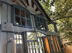 Large Wooden Climbing Frame Slide Swing Set