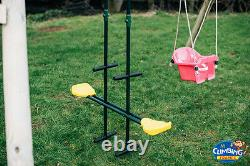 MISSISSIPPI DOUBLE Heavy Duty Double Wooden Swing Set, Pressure Treated Timber
