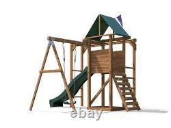 Monkey Bar Climbing Frame Playhouse Kids Slide Swing Set MonkeyFort Wilderness