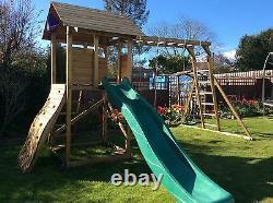 Monkey Bars Climbing Frame Wave Slide Swing Set Play Den MaxiFort Frontier