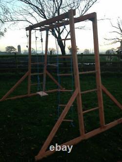 NEW Wooden Climbing Frame Wooden Monkey Bars, Wooden Swings