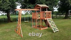 NEW-Wooden Climbing frame, monkey bars, Slid, Swing, delivery & assembly included