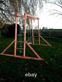 NEW Wooden Monkey Bars Climbing Frame, Wooden Swings