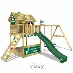 New Wickey Smart Seaside Climbing Frame Tree Hourse Swing Slide Set £1500
