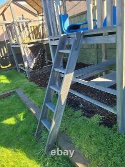 One Tower /Tree house 6ft with slide, bridge, climbing wall cargo net and ladder