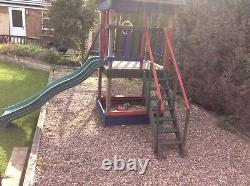 Play Frame With Swings Sandpit Slide And Tower