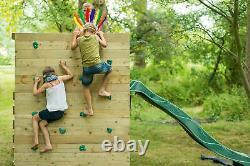 Plum Climbing Frame Kids Slide Wooden Playhouse Swing Set Outdoor Toys Cube
