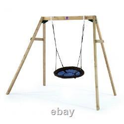 Plum Kids Swing Set Wooden Garden Nest Swing Climbing Frame Premium Nest Set