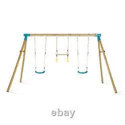 Plum Kids Swing Set Wooden Garden Swing Climbing Frame Mangabey Set