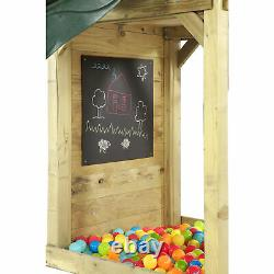 Plum Wooden Climbing Frame Lookout Tower Green Accessories Included & Ball pit